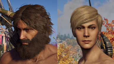 Hairstyles and beards