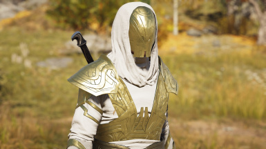 White and Gold Isu Armour