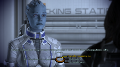 Liara talking to Miranda