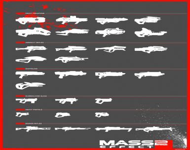 ME2 Weaponry tweaks