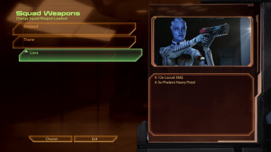 Better Liara weapon select GUI image