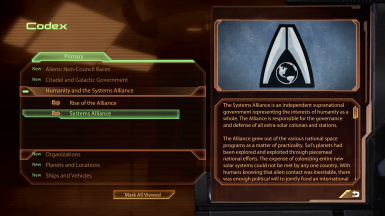 Restored Systems Alliance codex, custom tex