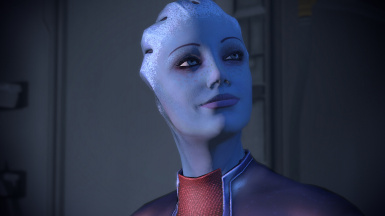 Consistent Liara in the cabin