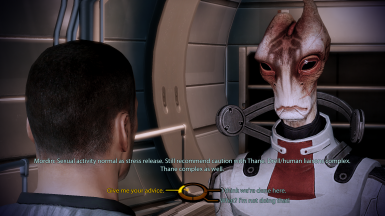 Mordin acknowledges MaleShep/Thane romance