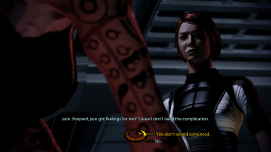 Jack asks FemShep about her feelings