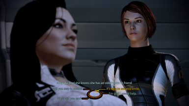 FemShep can flirt with Miranda