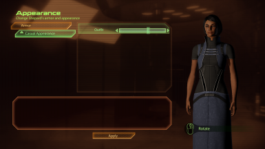 Displaying one of the new female Shepard casual appearance options