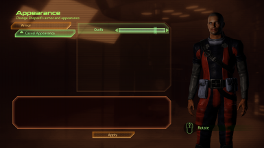 Displaying one of the new male Shepard casual appearance options