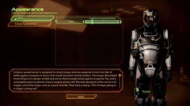 Original armors remain untouched in the Full Body Armors Section under