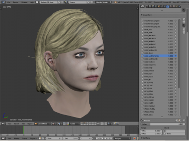 Customizable femshep head morph for Blender