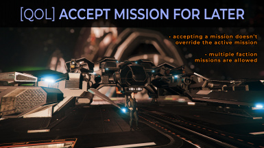 UI Accept mission for later