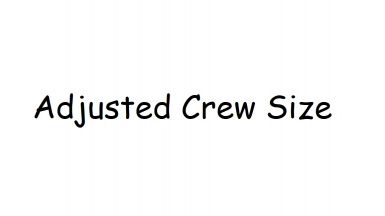 Altered Crew Numbers