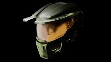 Mark IV Spartan Helmet with HUD. Texturing by Drags (Dragonsnight on NexusMods)