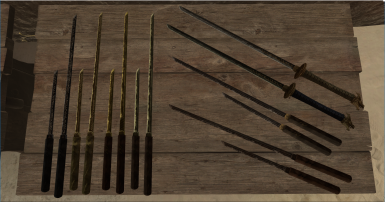 Update 1.1 additions! The Oathblade, long and short variants of the Zatoichi, and alternate textures for each :)