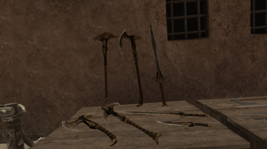 Update 1.4: the elven weapons! Look badass
