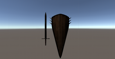 Black Prior Sword and Shield