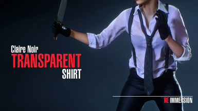 Claire Noir Transparent Shirt