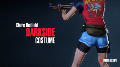 Claire Redfield Darkside Costume - With Vest