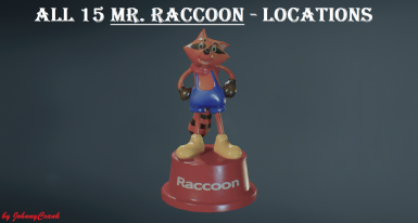 All 15 Mr. Raccoon Locations