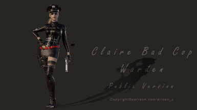 Claire Bad Cop Warden