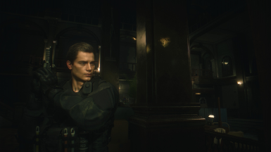 Noir Leon in Special Forces uniform at Resident Evil 2 (2019) Nexus