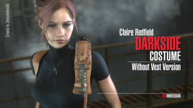 Claire Redfield Darkside Costume - Without Vest