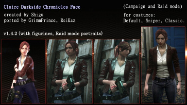 Claire Darkside Chronicles Face (Campaign and Raid mode)