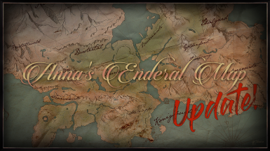 Anna's Enderal Paper Map - Apothekarii Monastery Road