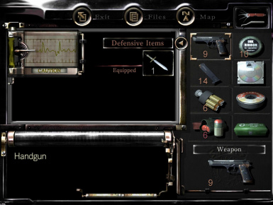 Resident Evil HD REmaster - Remastered Inventory Icons