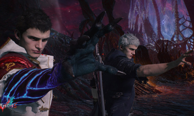 Nero EX costume different meshes Human form DT and nero with an arm