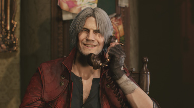 Crimson Red Coat For Dante