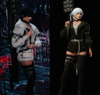 Kaine Outfit For Lady From  Nier Reincarnation