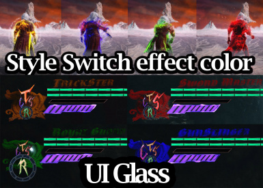 Dante Style switch effect color and UI glass