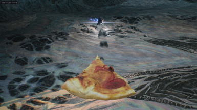 Pizza replaces Dante's red rose