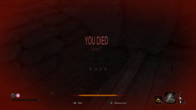 You Died Screen Text With Shrug