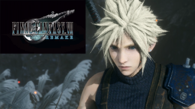 Cloud Strife from Final Fantasy VII Remake (Weapon included)