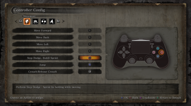 Native PS4 Buttons