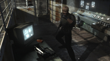 Remove Wesker's red glowing eyes