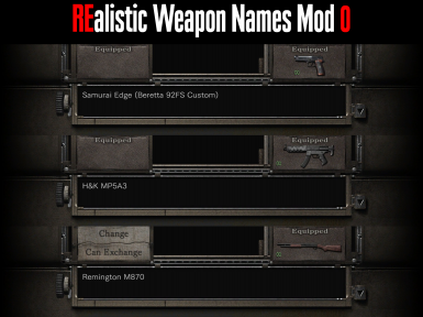 REalistic Weapon Names Mod 0