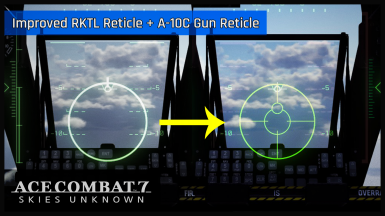 Improved RKTL reticle and A-10C gun reticle