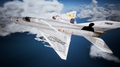 MiG-21bis 765 Producer. It's a joke skin, actually. This producer has the distinction as the only producer in the series to sing songs in an album. Do you want more husbando skin?