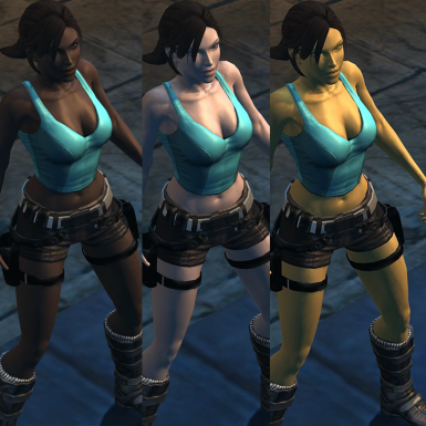 Skin colors for  Lara