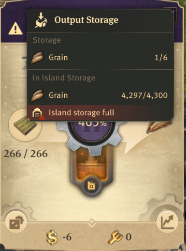 Increased local storage on farm and plantation buildings.