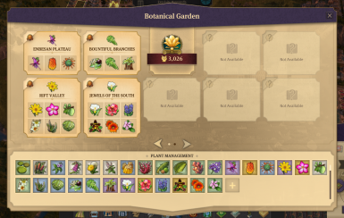 New sets displayed in Botanical Gardens