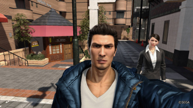 Blue Jacket Kiryu costume from Yakuza 6 Demo