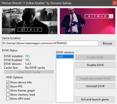 Hitman Vulkan Enabler - 0x80000003 fix