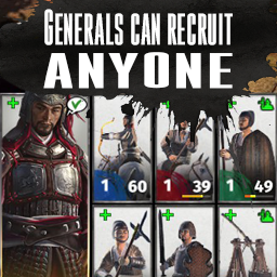 Generals Can Recruit Any Unit