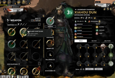 Legendary Weapons and Mounts Start Game Mod