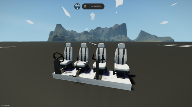 2 blocks wide Car Plane and Helicopter seat
