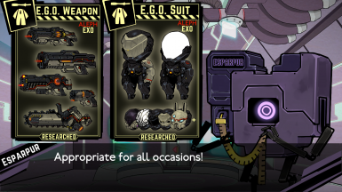 E.X.O. suit EGO set